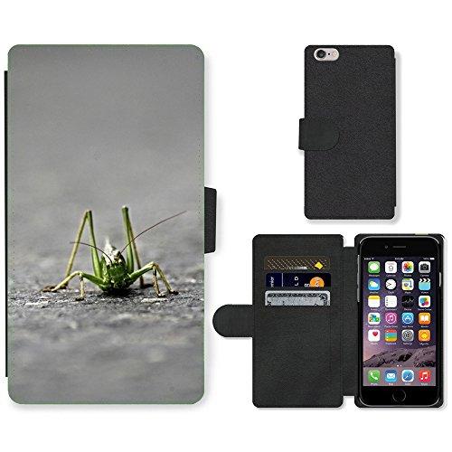Grand Phone Cases PU Leather Case Coque housse Smartphone Flip Bag Cover Protection // M00142059 Saltamontes Langosta del Desierto // Apple iPhone 6 Plus 5.5