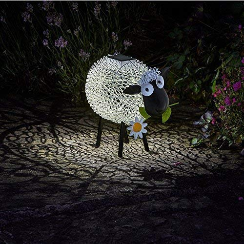 garden mile solar betrieben Aufleuchtend LED Giraffe klicken Kupfer Optik Metall Garten Tiere Skulpturen umwerfend Vielseitige Garten Dekoration Decoration - Sheep