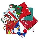 10 Pack Baumwollstoff Weihnachten Stoffpakete Patchwork
