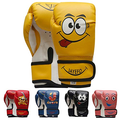 Jayefo Kids Boxing Gloves Yellow 4 OZ