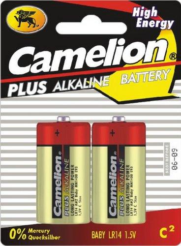 Baby-Batterien CAMELION AlkalinePlus, Typ C/LR14, 1,5V, 2er Pack