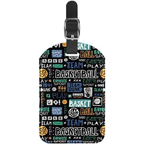 Etiquetas de Equipaje para boceto de Baloncesto y Maleta de Viaje, 1 Paquete