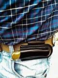 Horizontal Carry Friction sheath with belt loop for Buck 110 folding hunter, custom leather sheath made to fit Buck 110, pocket knife leather case, EDC knife