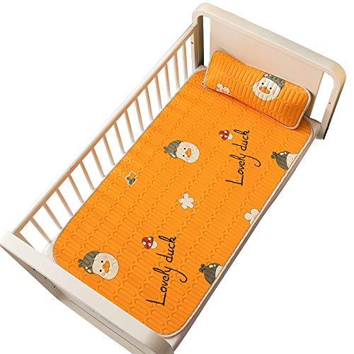 Baby-EIS-Silk Matten und Kissen für Kinder Breathable Ice Silk Mat Matratzen und Kissen Anti-Rutsch-EIS-Silk Matratzen für Kinder Summer Sleep (2 Stück) D