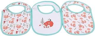 Apalldoo 3pcs / Set Baby Bib Burp Cartoon Printing Cotton Blends Scarf Baby Using Meal Collar Burp Snap Button Bibs Forest Fox