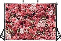 Wbw 7x5FT /2.1Mx1.5M花の花の花の壁の写真の背景結婚式の背景パーティー写真の背景1歳の誕生日の装飾の背景11-383