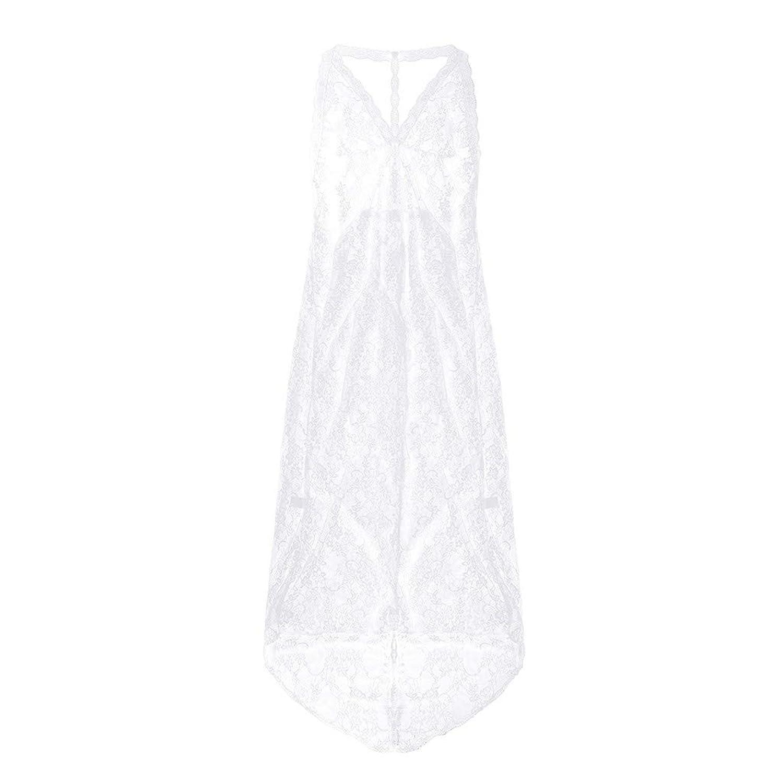 ROSE ROMAN 女性 誘惑 エロ 下着 情趣の下着 透明なレースパジャマ超薄い長い段落セクシーな夜のドレス セクシー ランジェリー パジャマ 透ける 過激 巨乳 誘惑透視 花柄刺繍