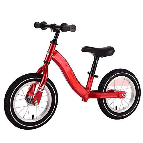 YumEIGE Loopfiets voor kinderen, lichtgewicht aluminiumlegering, met 360 graden stuurwiel, kinderfiets 1-6 jaar oud kindergeschenk kinderloopfiets rood
