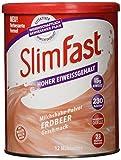 SlimFast Milchshake Pulver Erdbeere I Kalorienreduzierter Abnehm-Shake mit hohem Eiweißanteil I...