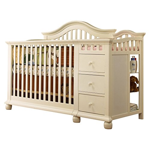 Hot Sale Sorelle Cape Cod Crib and Changer with Toddler Rail, French White