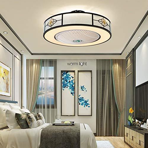 Fan Deckenlampe Deckenventilator mit LED Beleuchtung und Fernbedienung Leise Ventilator Kreative für Kinderzimmer Wohnzimmer Schlafzimmer unterstützt den mobilen APP-Modus