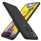 iBetter für Samsung Galaxy M31 Hülle, Ultra Thin Silikon hülle Abdeckung Handy Hülle Stoßfest Hülle Handyhülle Schutzhülle Shock Absorption Backcover passt für Samsung Galaxy M31 Smartphone,Schwarz