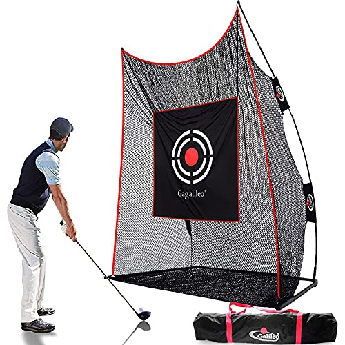 Gagalileo Golf Practice Net for Backyard Golf Net Driving Range Golf Hitting Nets for Indoor with Golf Target and Carry Bag 12X10X4FT