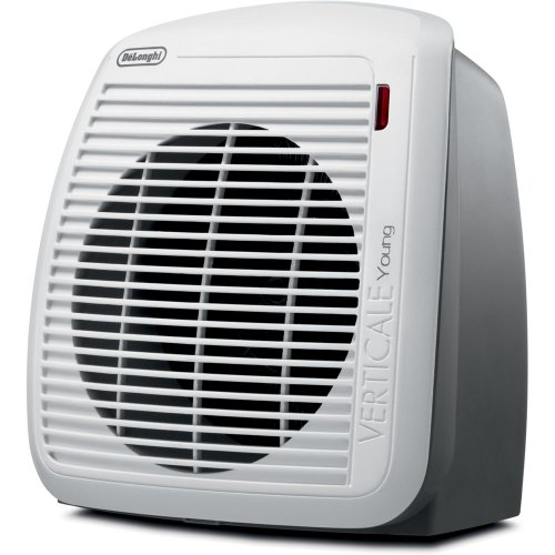 De'Longhi Portable Fan Heater, Quiet 1500W, 2 Settings, Energy Saving, Overheat Protection, Compact & Ideal for Small to Medium Sized Rooms, White / Gray - HVY1030 Dining Electric Features heaters Home Kitchen Space