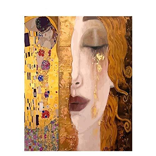 WYTCY Pintar Por Números - Gustav Klimt. Pintura Al Óleo De Lienzo De Lino, Pintura De Arte Moderno, Kit De Pintura De Bricolaje, Adecuado Para Adultos Y Principiantes40*50CM