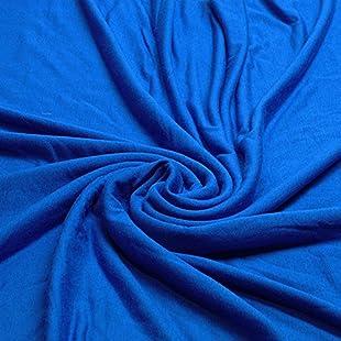 Plain Viscose Elastane Stretch Jersey Fabric 150 cm wide per metre (Royal Blue)