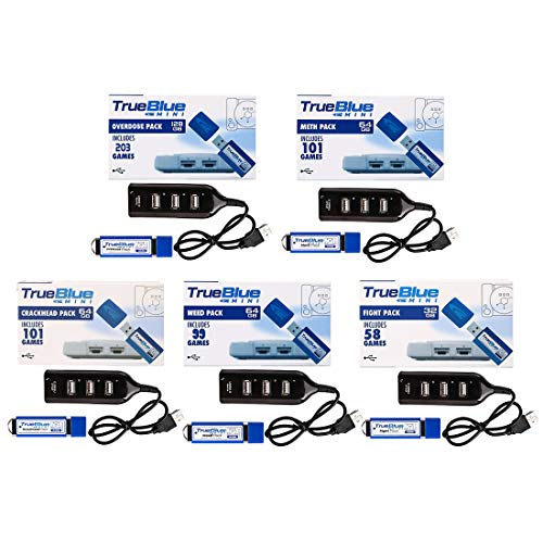 TETAKE True Blue Mini 5-Pack 562 Spiel (Overdose + Crackhead + Meth + Fight + Weed) für PS Classic