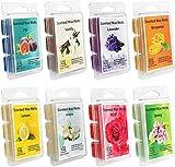 Addbeaut Scented Wax Melts -Set of 8 (2.5 oz) Assorted Wax Warmer Cubes/Tarts - Jasmine, Rose, Bergamot, Fig, Vanilla, Lemon, Spring, Lavender