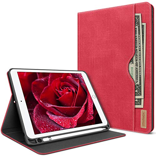 iPad Mini 5 Case 2019 iPad 5th Generation 7.9 Inch with Pencil Holder - Folio Leather Stand Smart Cover with Pocket Auto Sleep/Wake Protector
