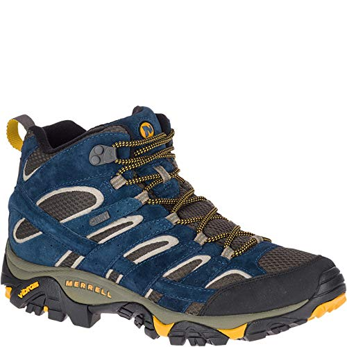 Merrell Men's Moab 2 MID Waterproof Hiking Shoe, Olive Blue, 09.5 M US