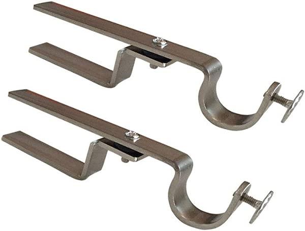 NONO Bracket Mini Inside Mounted Blinds Curtain Rod Bracket Attachment For Mini Blinds Satin Nickel