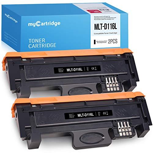 MyCartridge 2 Kompatibel Samsung D116L MLT-D116L Schwarz Toner für Samsung Xpress SL M2835dw M2625d M2825nd M2885fw M2825dw M2675 M2675fn M2875fd M2626 M2626d M2676 M2676n M2676fh Drucker