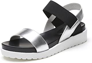 Classic Summer Platform Shoes Women's Velcro Leakage Toe Sandals