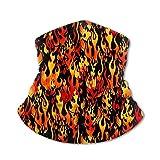 Funny Caps Flames Orange Black Neck Polaina, Headwear, Face Sun, Magic Scarf, Bandana, Pasamontañas, Diadema para pescar, Motociclismo, Correr, Skateboard, Protección UV que absorbe la humedad