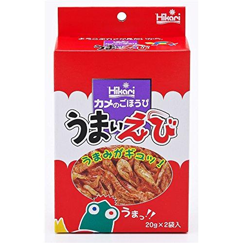 Hikari カメのごほうび うまいえび 20g×2袋入りamazon参照画像