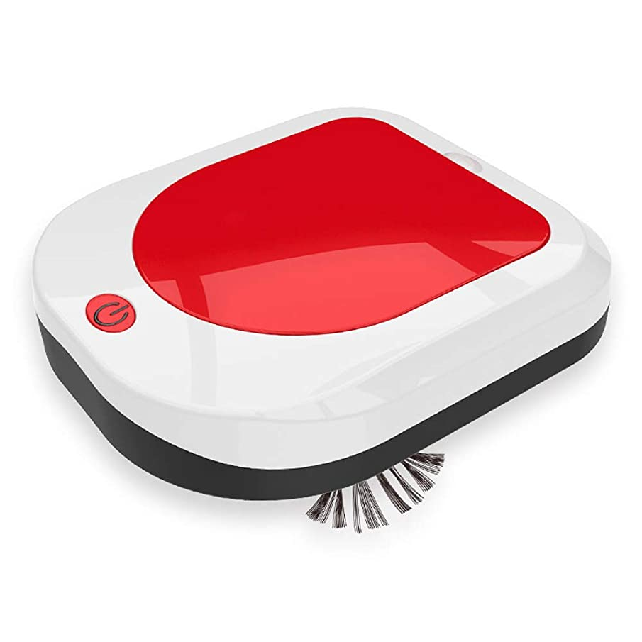 GNSDA Robotic Vacuum and Mop Cleaner- 850Pa Super Power Suction with 2000mAh Battery Capacity for Pet Hair, Carpet & Hard Floor (Red)- Silent Cleaning Anti-Fall Function