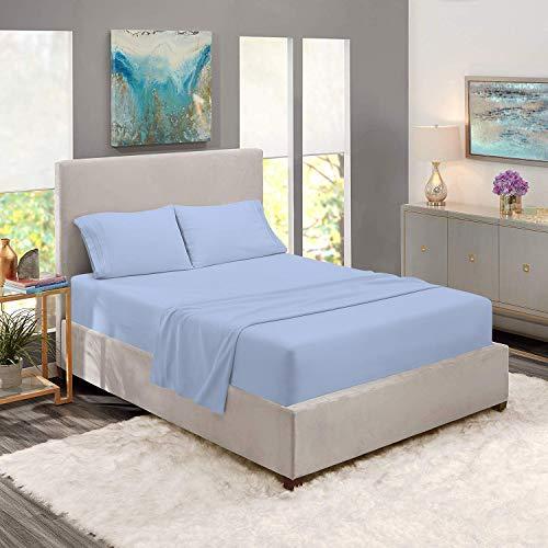 jessica sanders or clara clarke InnerSpring Bettlaken-Set aus 100 % ägyptischer Baumwolle, Fadenzahl 1000, für King-Size-Betten, passend für Matratzen von bis zu 35,6 cm bis 45,7 cm, in tiefer Tasche