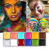 Set da 12 colori brillanti per body painting, per feste di Halloween...