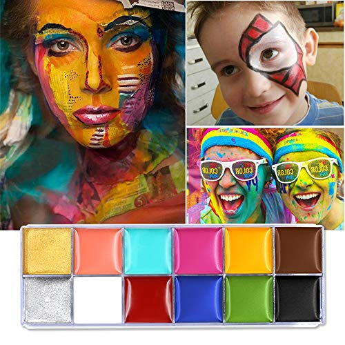 Scopri offerta per Set da 12 colori brillanti per body painting, per feste di Halloween
