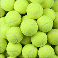 Made of Rubber Material Package included:24 pcs tennis balls Size:diameter approx 6.5cm (2.6 inches) Used for lessons, practice, throwing machines & playing with pets. Tennis balls with beautiful outlook could also be the gifts to send to tennis and ...