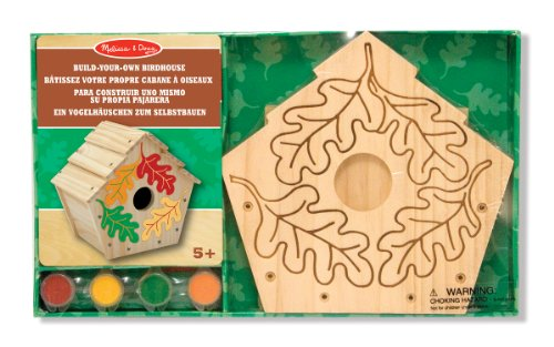 Melissa & Doug | Build-Your-Own Wooden Toy Birdhouse | Arts & Crafts | Craft Kits: Created By Me, Made Easy & More | 3+ | Gift for Boy or Girl