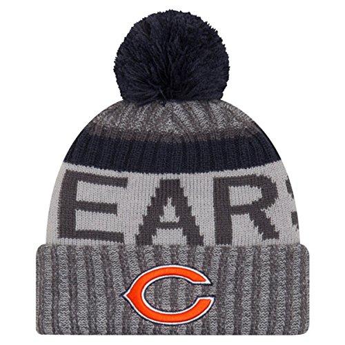 New Era NFL Sideline 2017 Bobble Gorro de Chicago Bears