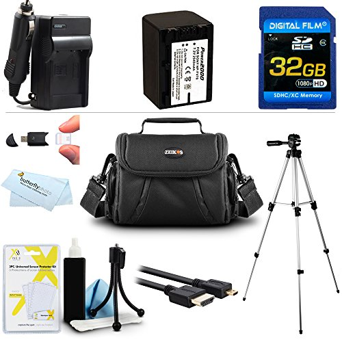 32GB Accessories Kit for Olympus Stylus Tough TG-Tracker Action Camera Includes Replacement LI-90B, LI-92B Battery + Charger + 32GB High Speed Micro SD Memory Card + Micro HDMI Cable + Case + More