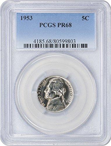 1953 Jefferson Nickel, PR68, PCGS