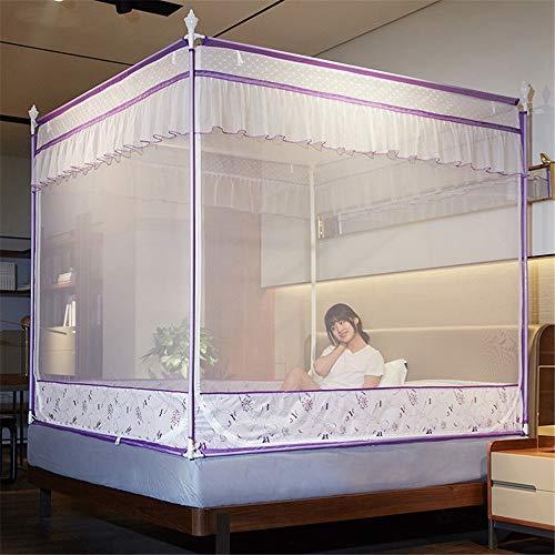 LHY NEWS Kid bébé moustiquaire lit à baldaquin, Rideau moustiquaire, Couverture complète Dentelle Mosquito Grillages Lit à baldaquin pour bébé Chambre,D,1.8 Meters (6 Feet)