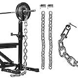 GORILLA SPORTS Power Ketten 2er-Set 32 kg Stahl – Gewichtsketten mit Verschlüssen 50/51 mm