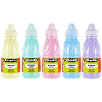 Cleopatre - PGN250x5P - Pack de 5 frascos de pintura guache, 250 ml, pastel