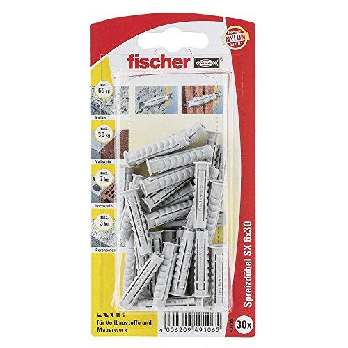 Fischer Spreizdübel SX 6 x 30 K SB-Karte, 049106