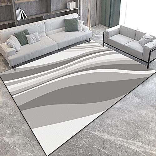 cojín meditación Carpeta Rectangular Gris Sala de Estar decoración a Prueba de Humedad y Transpirable Sofas de Salon Grandes alfombras alargadas 80X160CM 2ft 7.5' X5ft 3'