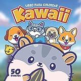 Libro Para Colorear Kawaii: 50 lindos dibujos para colorear para niños y adultos...