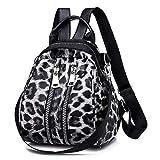 VICTOE Fashion Shell Shape Bag Damen Leopard Print Rucksack Koreanische Version der Wild Tide Fashion Mini Rucksack, Schwarz (Schwarz) - VICTOE-9870