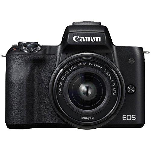 キヤノン EOS Kiss M EF-M15-45 IS STM レンズキット (ブラック/ミラーレス一眼カメラ) EOSKISSMBK1545ISLK