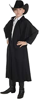 Child's Wild West Cowboy Outlaw Black Duster Coat Costume