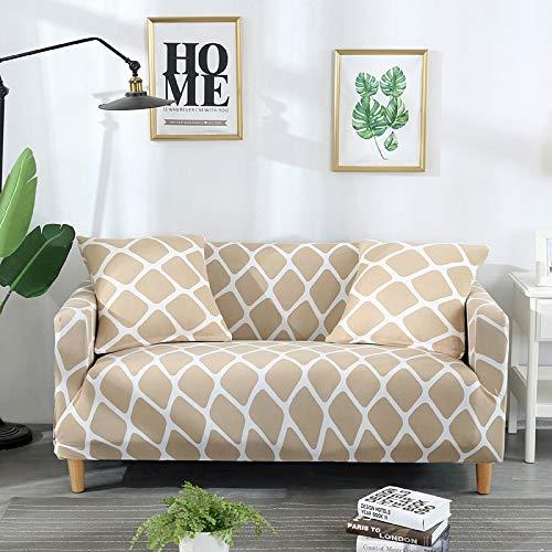 ASCV Fundas elásticas de sofá Sala de Estar Funda elástica elástica Fundas de sofá seccionales de Esquina A3 4 plazas