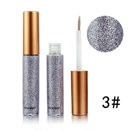 Eyeliner, Huihong 10 Farben Wasserdicht Metallisch GläNzend Rauchig Augen Lidschatten Langlebig Glitter FlüSsige Eyeliner (C)
