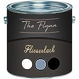 El barniz para azulejos de alta calidad de The Flynn, brillante, gris, blanco, negro, crema, blanco antracita, gris claro, gris plata, selección de colores 2 componentes, incluye Endurecedor, Negro